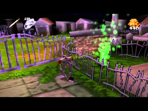 cave man plays: medievil 1 part 3 ''BETTER QUALITY is gloryus!''
