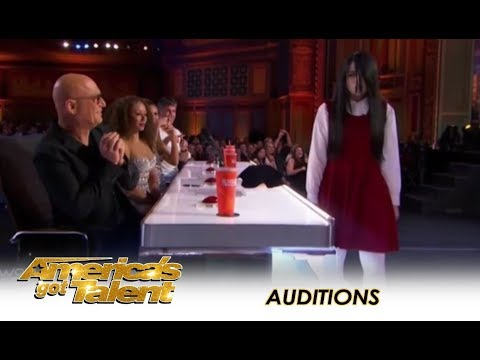 Sacred Riana: Famous CREEPY Girl Magician Comes To America! | America's Got Talent 2018