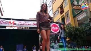 Zariht Garcia Sexy Mini desfile Gamarra Fashion Day Celebridades PERUANAS