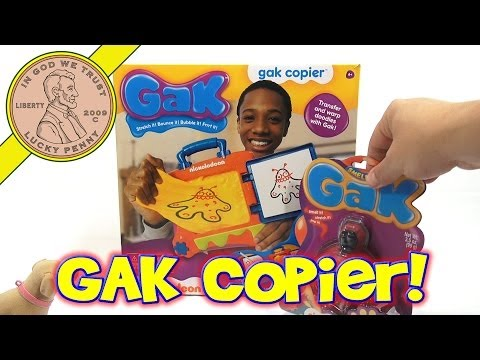 GAK Copier Transfer & Warp Doodles with GAK Wow White Gak
