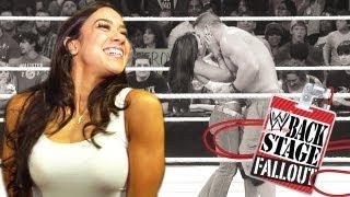 Backstage Fallout - AJ kisses ... and tells - Raw - November 26, 2012