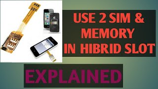 How to Use Duel Sim and Memory Card in Hybrid Slot (in Bengali)