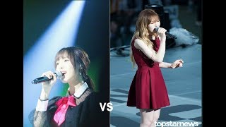 Wendy vs yuju who sings with chanyeol better ''stay with me''