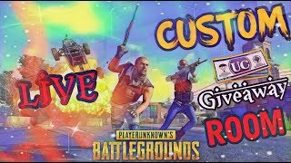 🔴 LIVE CUSTOM ROOM PUBG MOBILE LIVE| ANYONE CAN JOIN AND PLAY #UC GIVEAWAY🔴ROAD TO 4K