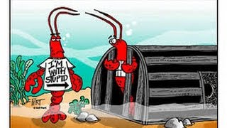 Lobster entering the lobster Trap caught on camera Pictou Nova Scotia