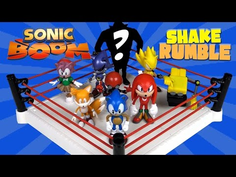 SONIC BOOM Shake Rumble with Sega Sonic Toys Super Sonic Knuckles & Dr. Eggman by KidCity