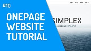 [10] One-Page Website mit HTML & CSS | Responsive Teil 3