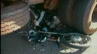 MS Record 1ª Edição - Acidente entre moto e carreta acaba em morte na Capital