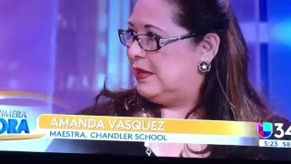 Chandler's Spanish Teacher and Student Interviewed on Canal 34