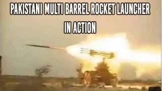 Pakistan Army Multi Barrel Rocket Launcher in Action
