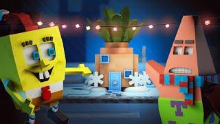 "♪ Spongebob in Minecraft : ""Santa has it"