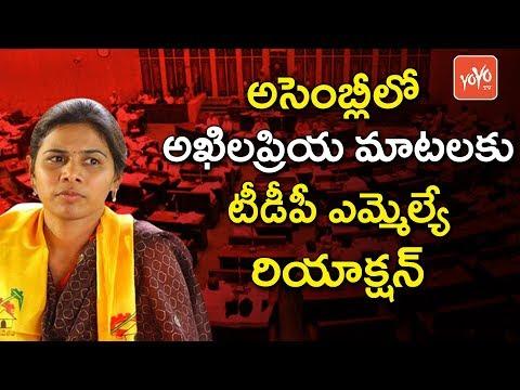 అసెంబ్లీలో అఖిలప్రియ.. | TDP MLA Reaction on Akhila Priya Speech in AP Assembly | YOYO TV Channel