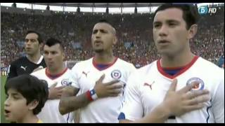 Himno de Chile - Chile vs España - Mundial 2014 Brasil HD - National Anthem