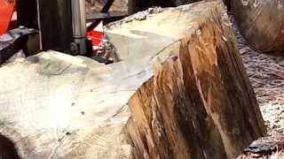 Our new log splitter