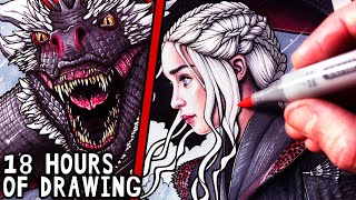 Let's Draw DAENERYS and DROGON - GAME OF THRONES - FAN ART