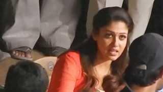 Nayanthara Mischievous Smile @ Film Shooting