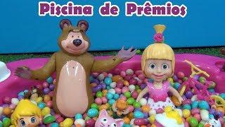 MASHA E O URSO - Piscina de Prêmios - Masha and the Bear - Pool filled with miniature prizes