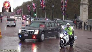 President Obama Secret Service Motorcade in London 2016
