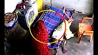 CCTV captures how a woman beats her mother in law mercilessly
