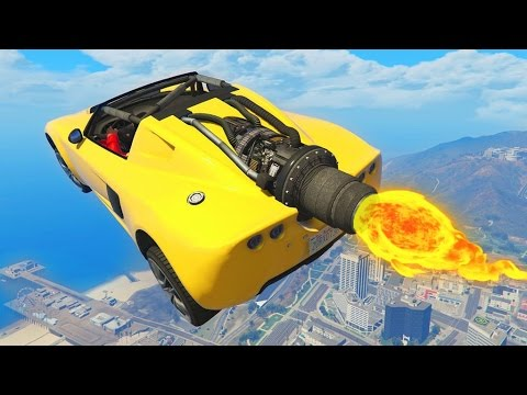 ROCKET CAR RACES GTA 5 Funny Moments 670