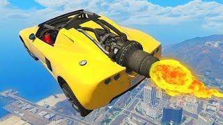 ROCKET CAR RACES! - GTA 5 Funny Moments #670
