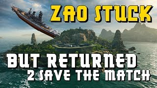 Funny Zao stucked to an island but returned 2 save d match! World of Warships