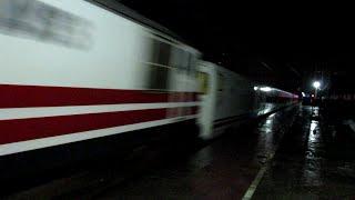 Sparking WAP-5 Delhi - Mumbai Talgo Train On Fire Through Faridabad New Town at Night !!!!