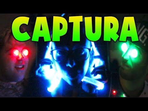 CAPTURA LA BANDERA CON LUCES LED A OSCURAS EN LA NAVE!!