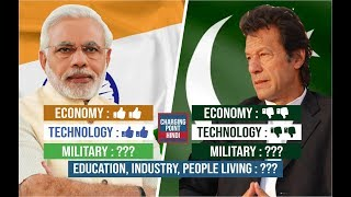 INDIA vs PAKISTAN Comparison in HINDI (1947 - 2018) || Economy, Military, Technology & Many More