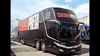 Ônibus da banda Calcinha Preta quebra em estrada na madrugada