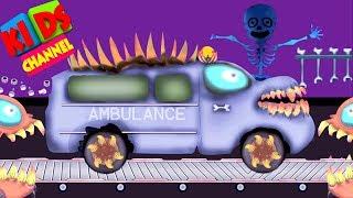 Ambulance   scary car garage   kids videos