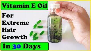 Evion 400 HAIR OIL: HOW TO USE VITAMIN E CAPSULES FOR HAIR GROWTH & HAIR FALL