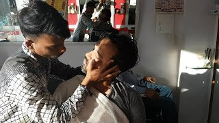 ASMR Master Cracker head massage with hair cracking