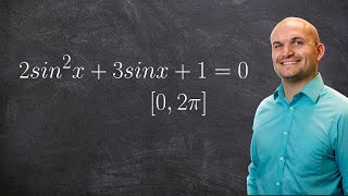 Solving a trigonometric equation by factoring