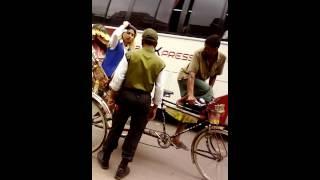 এই মেয়েটা রাস্তার ট্রাফিক ভঙ্গকরে রং সাইট দিয়ে রিক্সা নিয়ে চলেগেলো,  হায়রে ক্ষমতা