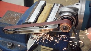 How to make a Power File (with basic tools) | Angle Grinder Hack | Grinder Attachment