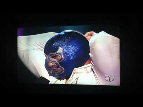 MIRA QUIEN BAILA Blue demon jr se quita la masca
