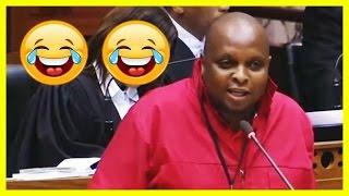 EFF Shivambu ROASTS ANC Members in Parliament today