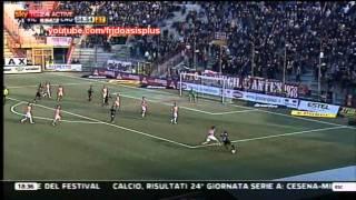 Italian footballer celebrates like Liam Gallagher after scoring a goal