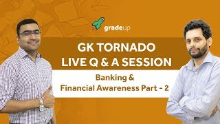 GK Tornado Q & A Session for SBI Exams|Banking Awareness Part - 2