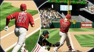 Can Mike Trout Hit For The Cycle In Order In 4 Straight At Bats? MLB The Show 17 Challenge