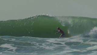 Kelly Slater's Impossible Barrel and Floater at Ocean Beach - Rip Curl Pro Search 2011