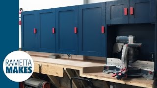 How to Build Workshop Cabinets // DIY Organization