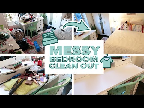 CLEAN WITH ME Messy Bedroom Clean Out