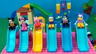 Parque de Diversão de Lego Gigante com piscina e carrossel ! #tiacris #lego #parquedeLego