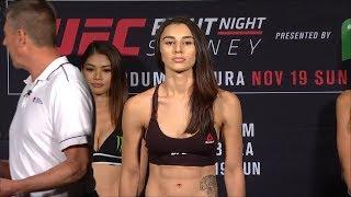 Alex Chambers vs. Nadia Kassem - Weigh-in Face-Off - (UFC Fight Night: Werdum vs. Tybura) - /r/WMMA