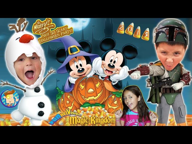 Süßes oder Saures in DISNEY WORLD! Mickey ist nicht so Scary Halloween-Party-2015