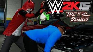 WWE 2K15 - CaRtOoNz vs H2O Delirious (Table Match w/ Bonus Backstage Brawl!)