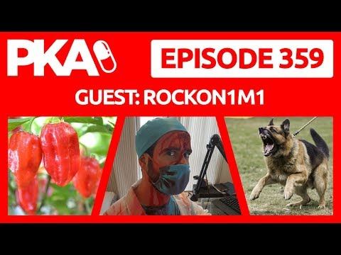 PKA 359 w/RockOn1m1 eats Hot Pepper, Woody Attacked by Dog,