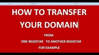 how to transfer a domain to other service provider (tutorial-6)